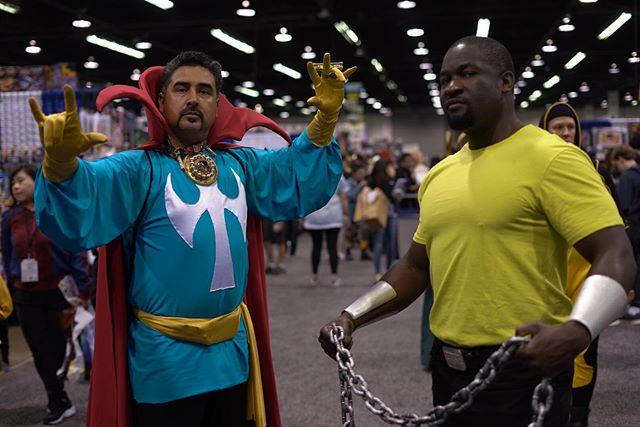 Power comes in many forms. @wondercon #Powerman #DrStrange #LukeCage #StephenStrange #Marvel #Cosplay #Nerd #ComicBook  #WomderCon #WonderCon2019 #PeopleOfCon