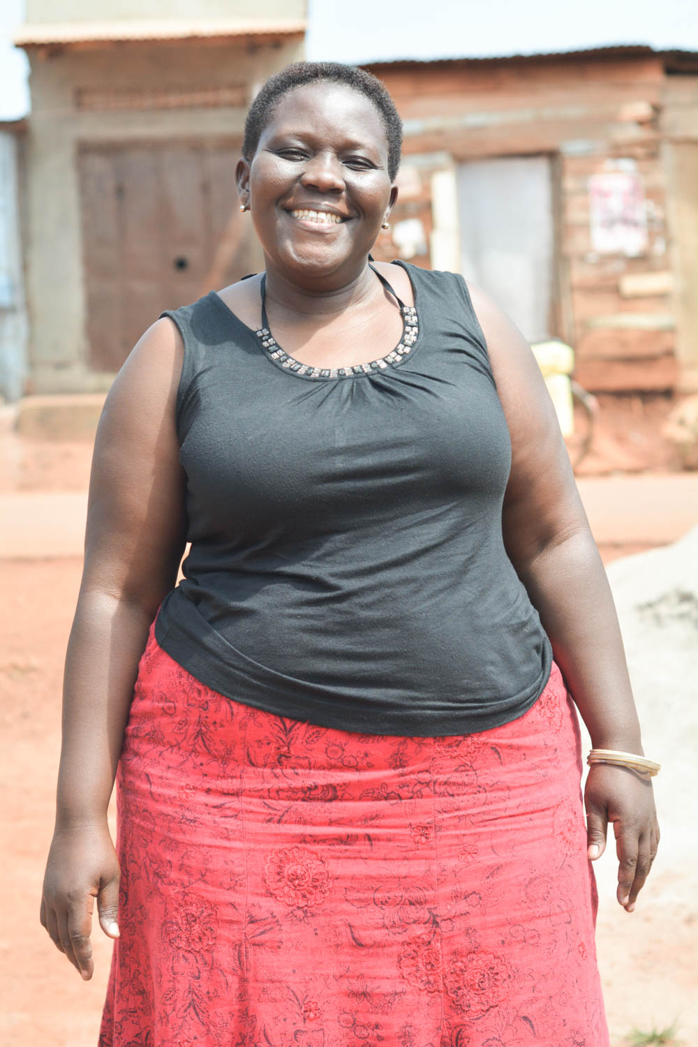 """Namulondo Suzan, """"Mama Suzan,"""" truly is a mother to all at Mabira, and has been nominated as the artisan spokesperson who reports to the management when women are having trouble in their personal and family lives. She loves to bake."""