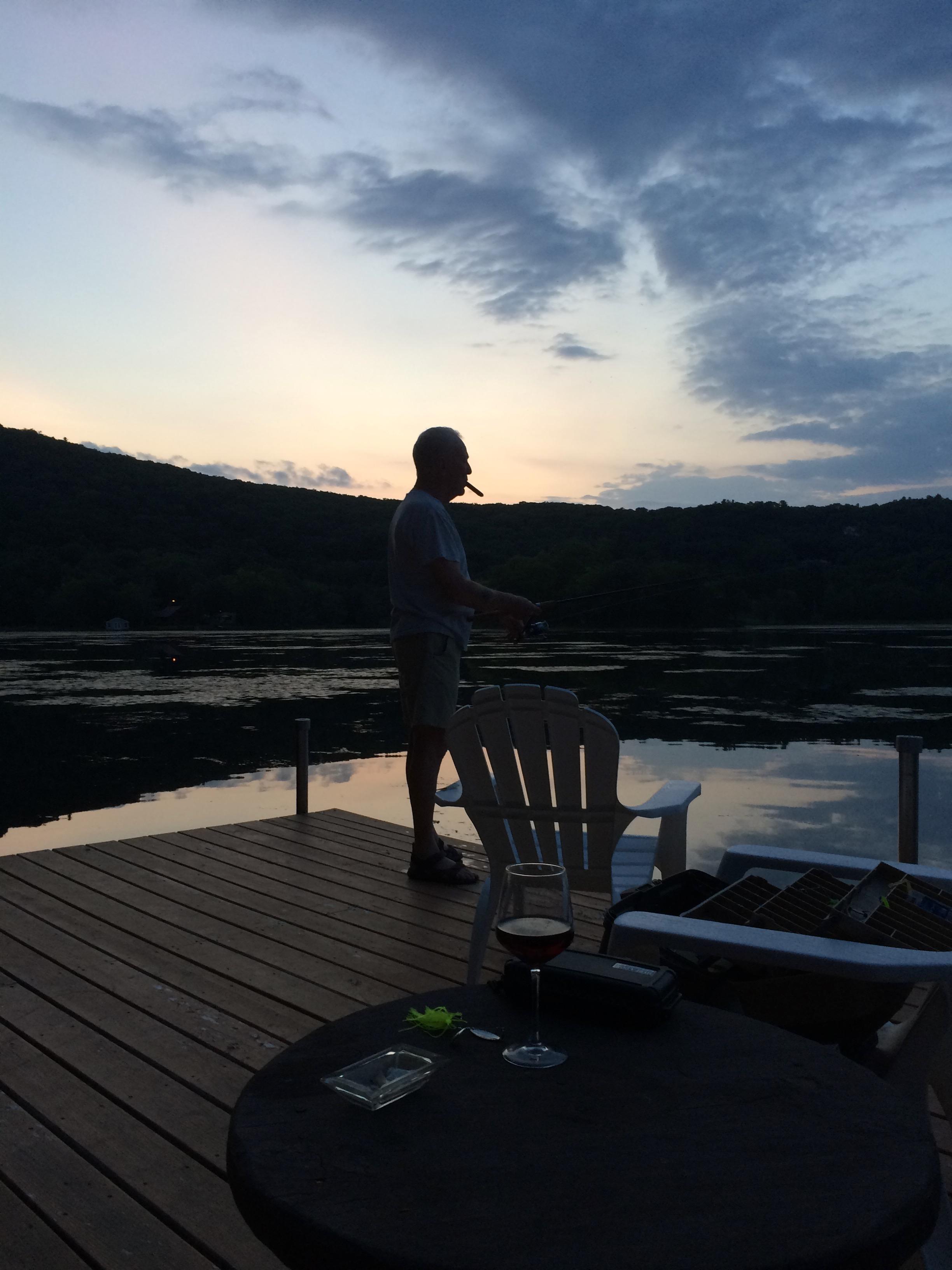 A Cigar _ Fishing at Sunset Twin Island Lake 8-2015.jpg