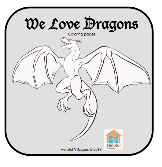 We love Dragons! Color these beautifully illustrated dragons! 5 pages FREE!