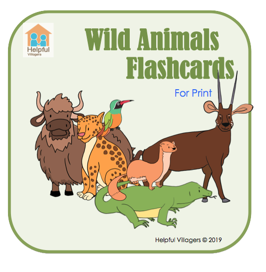 Flashcards for Wild Animals with traditional animals and maybe a few that will be new to children! FREE!