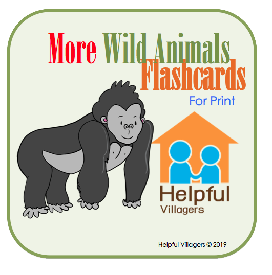 Another set of 16 more wild animals to learn and talk about! Download it now to print and use for FREE!