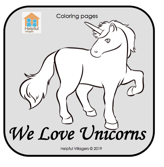 We love unicorns! 5 fun coloring sheets to download and use now! FREE!