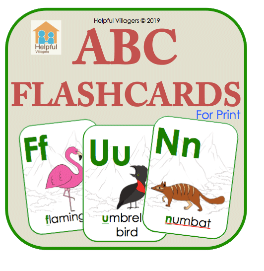 An ABC set of cards for the alphabet and getting to know some animals! FREE!