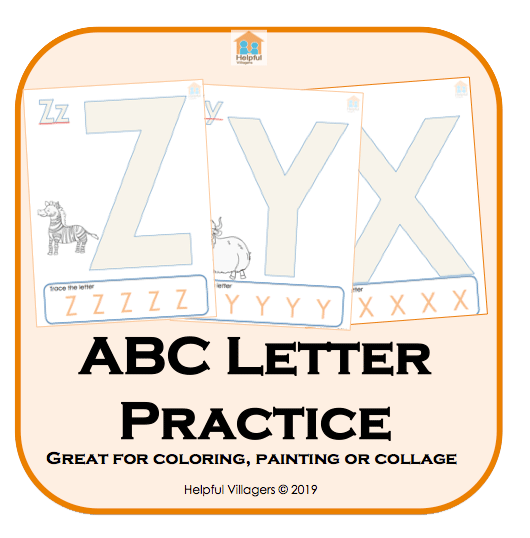 Large letters for coloring, painting or collage!