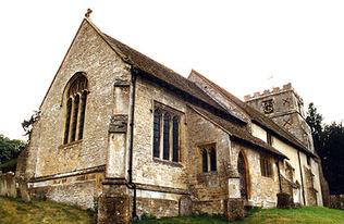 St Andrew's Church, Letcombe Regis.  Copyright David Nash Ford