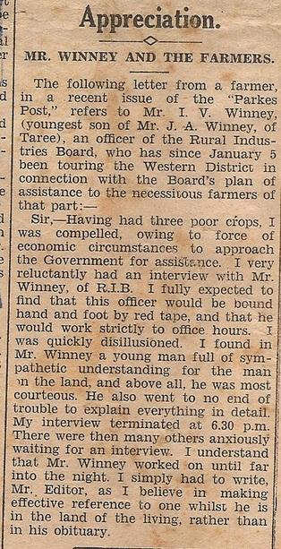 Wingham Chronicle 18 Feb 1930