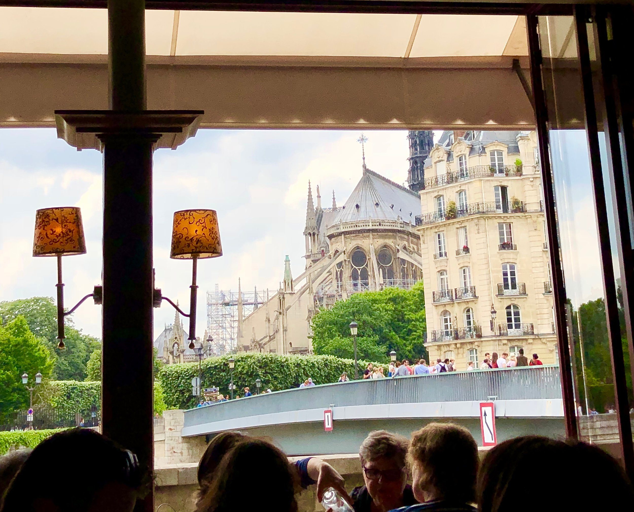 Le Flore en I'ile Paris France - great view of Notre Dame!