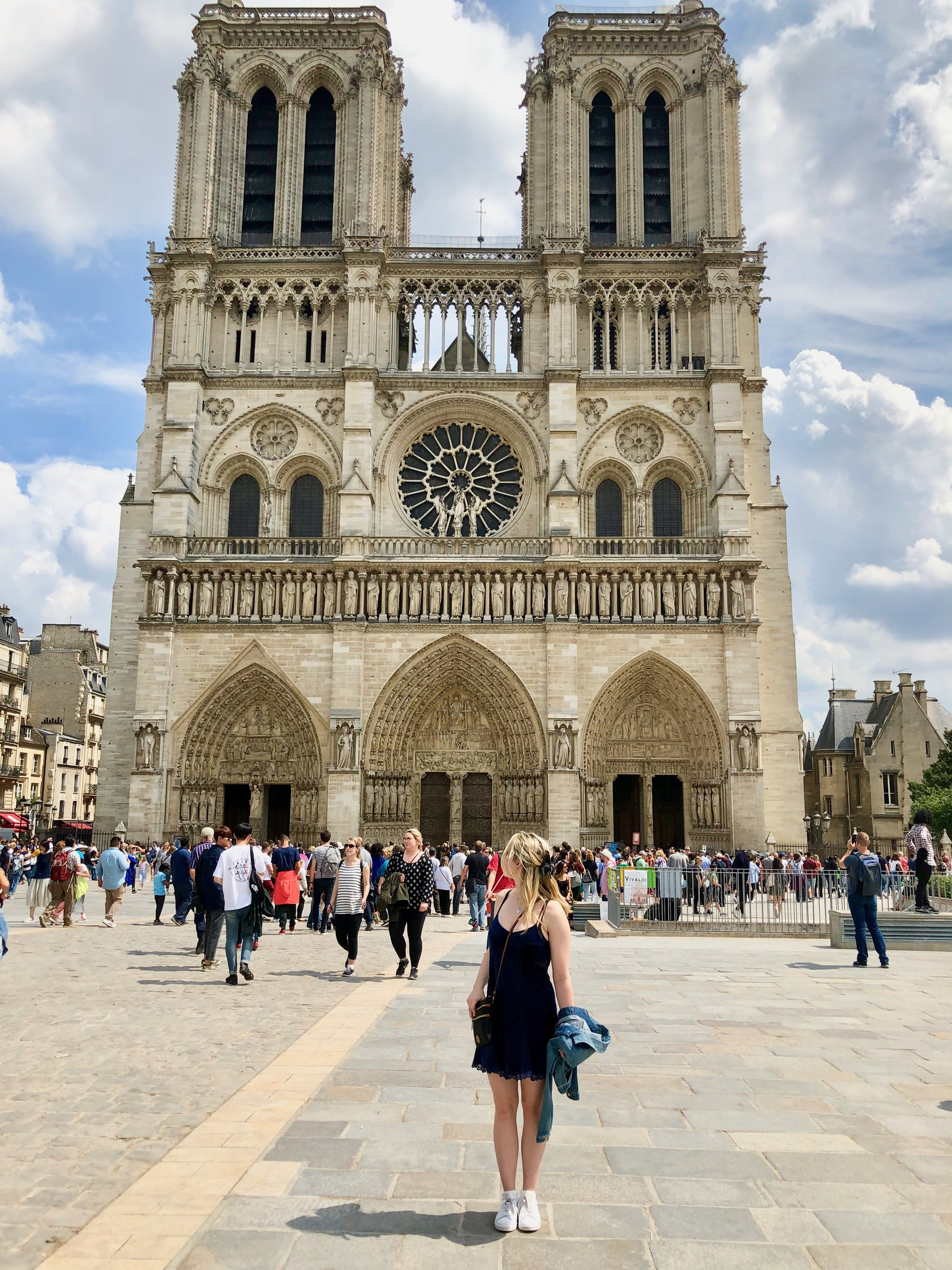 Notre Dame - Check out the beautiful architecture. I can just imagine Quasimodo up there ringing the bells.