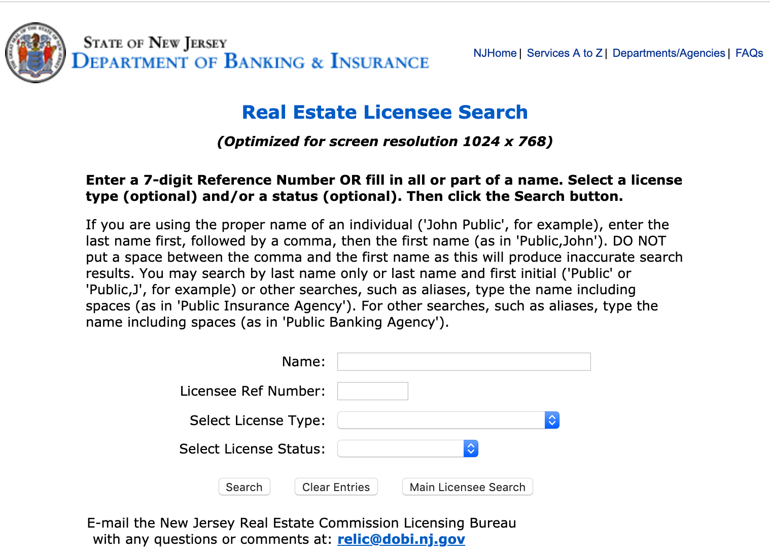 Don't let your NJ Real Estate License Expire — General Referral