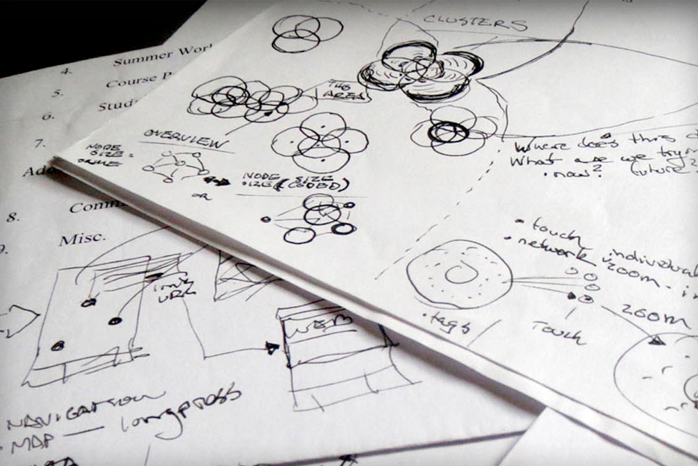A few sketches for ui and interaction concepts before refining and developing.