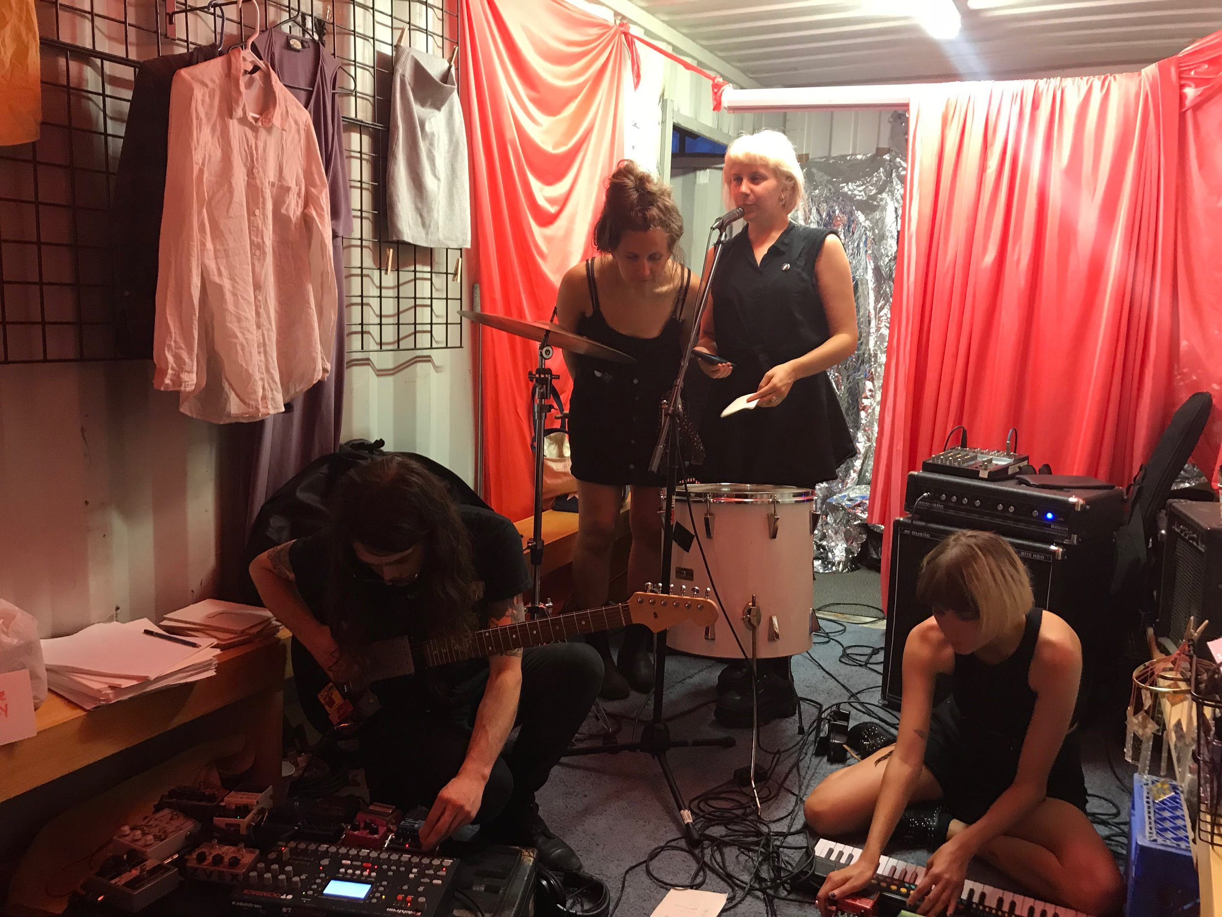 Abandon performing at THE 25 HOUR FREE STORE @ 7 Belvidere on July 1, 2018
