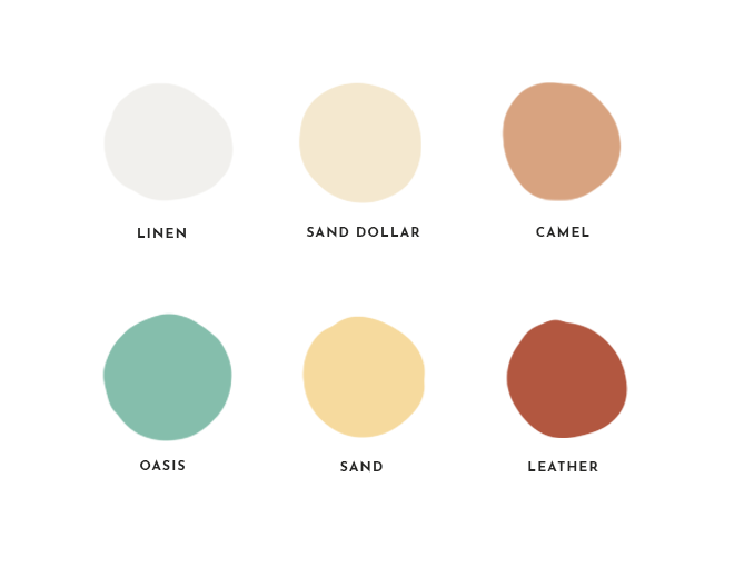 example of a colour palette for a brand