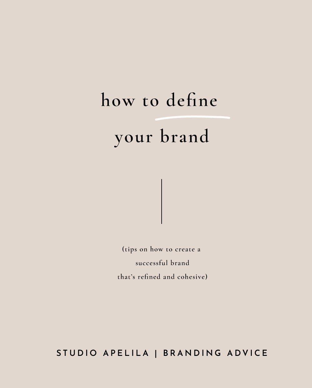 How to define your brand.
