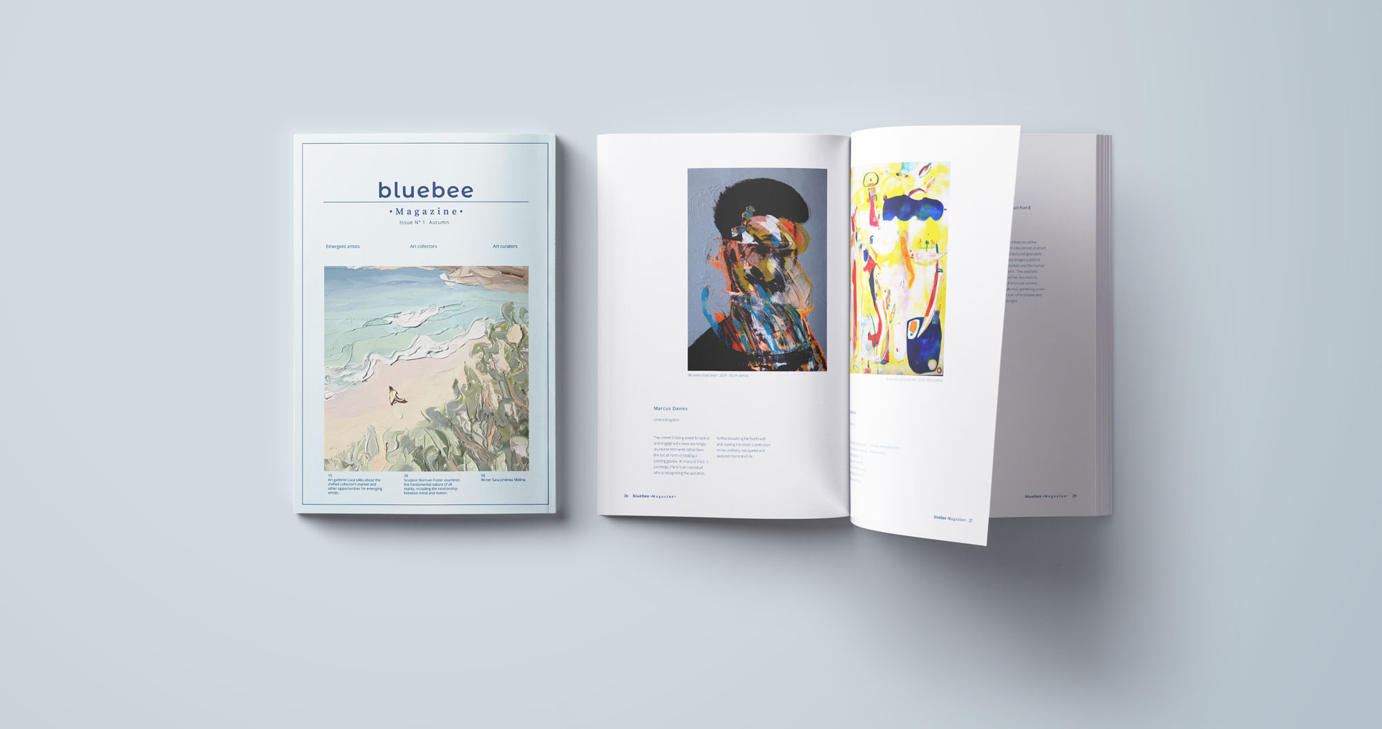 Blue Bee Magazine - Open Call for artists - mock up