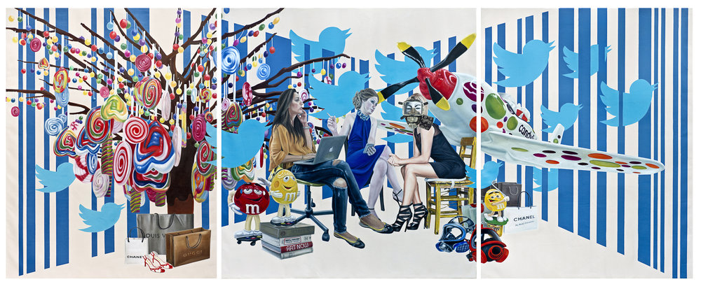 SWEET TIMES 2013 oil on canvas 180 x 189 cm