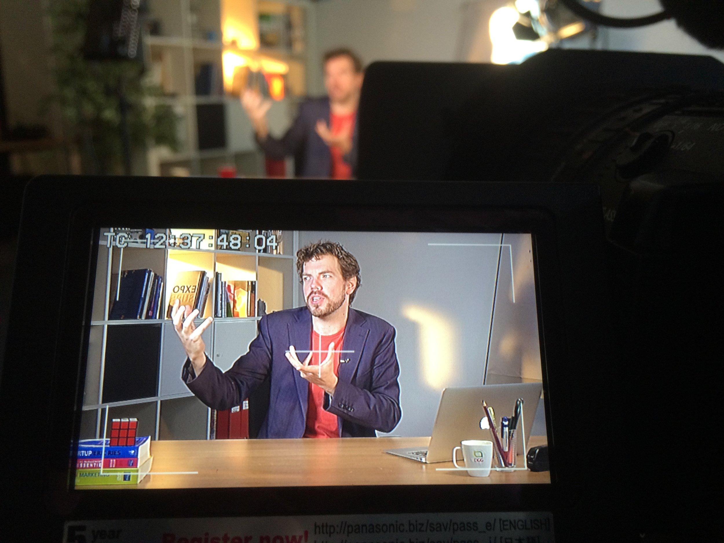 Opnames voor Entreprenerd video's