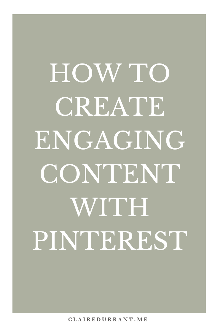 How to create engaging content with Pinterest