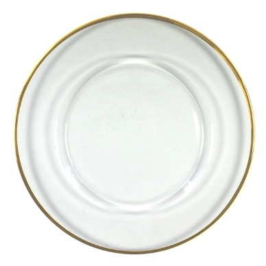 Gold Rimmed Charger Plate - $4.50