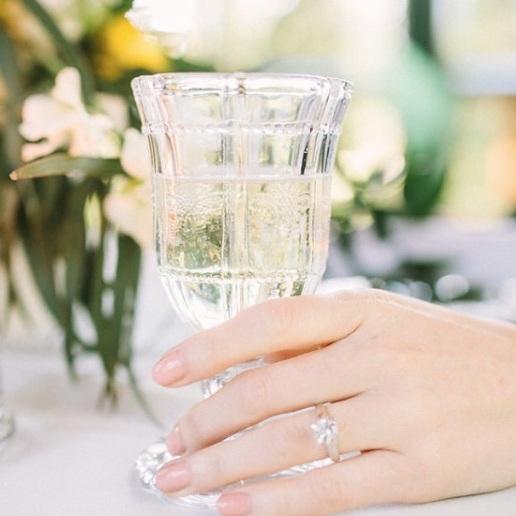Floral Glass Goblet - $3.00