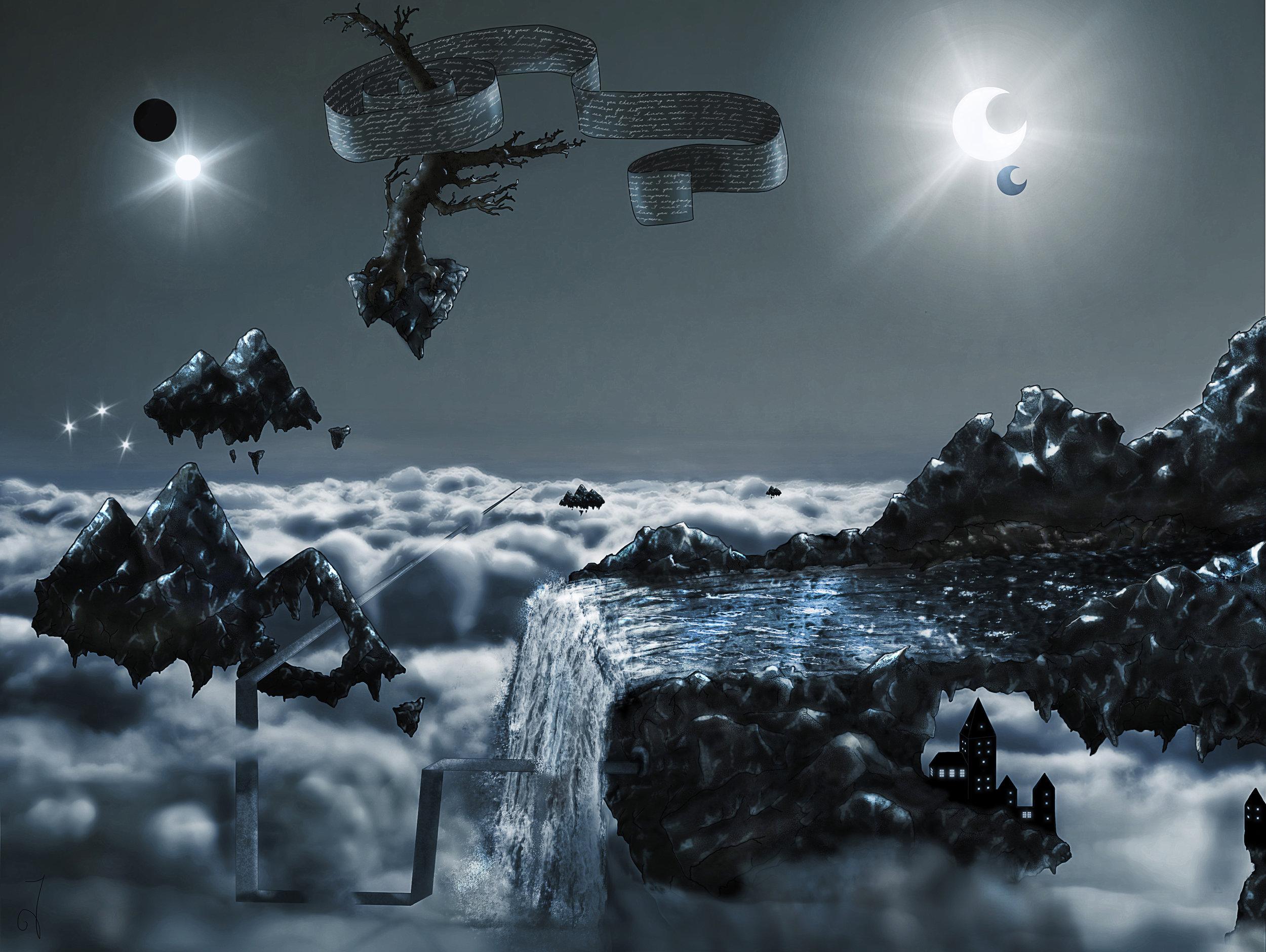 Infinity - Surreal LandscapeDate: Original 2008 - Digital 2011Tools: Pencil - Paper - Photoshop - Wacom Tablet - PC