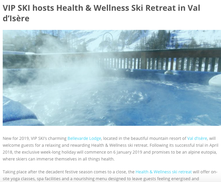 Heaven Publicity - Health & Wellness Ski Retreat