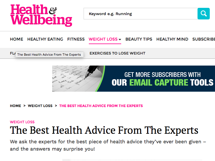 Health and wellbeing magazine - The Best Health Advice From The Experts