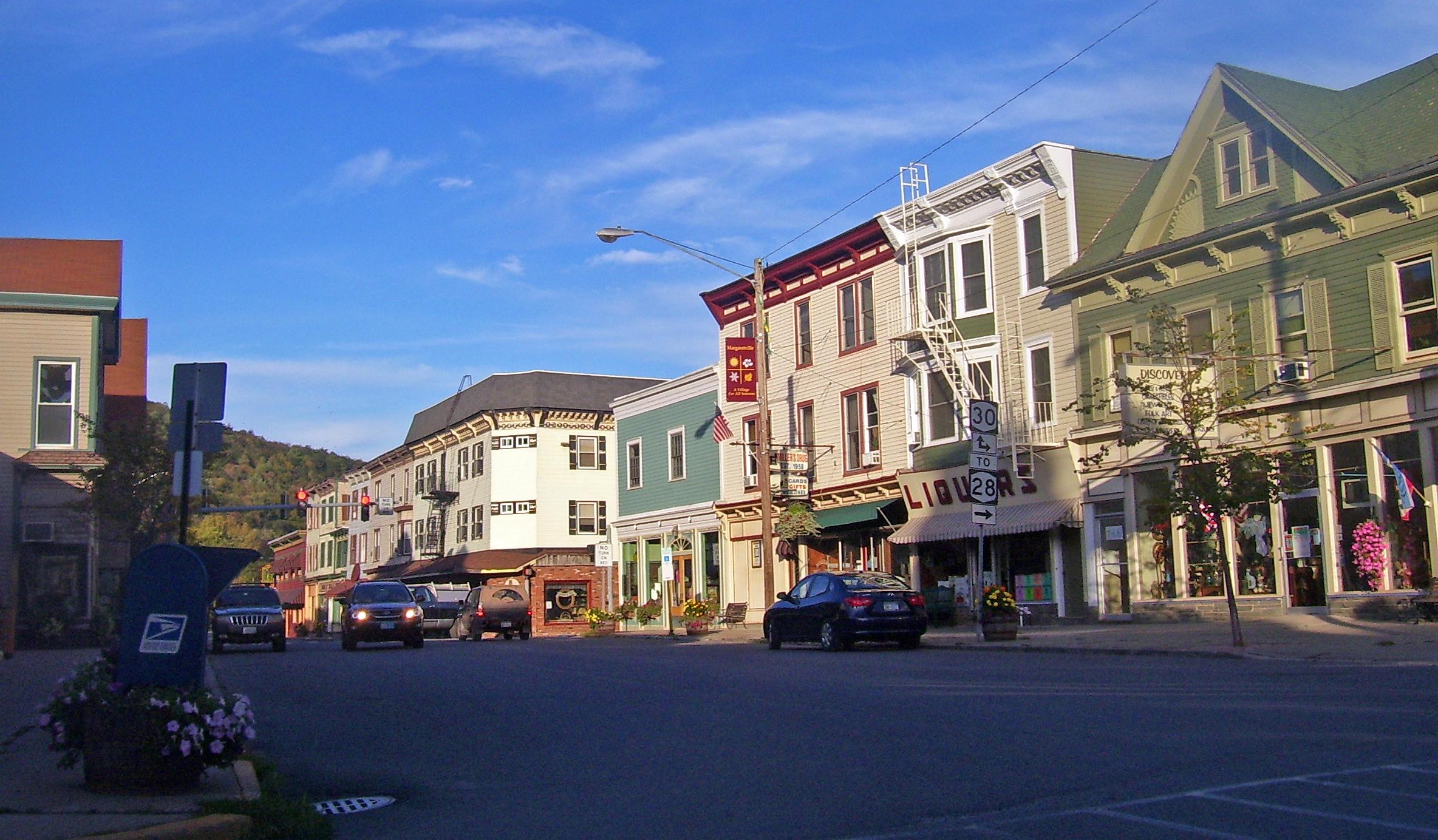 A sunny day on Main street Margaretville
