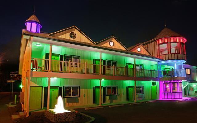 Bright lights at the fun and funky Roxbury Motel