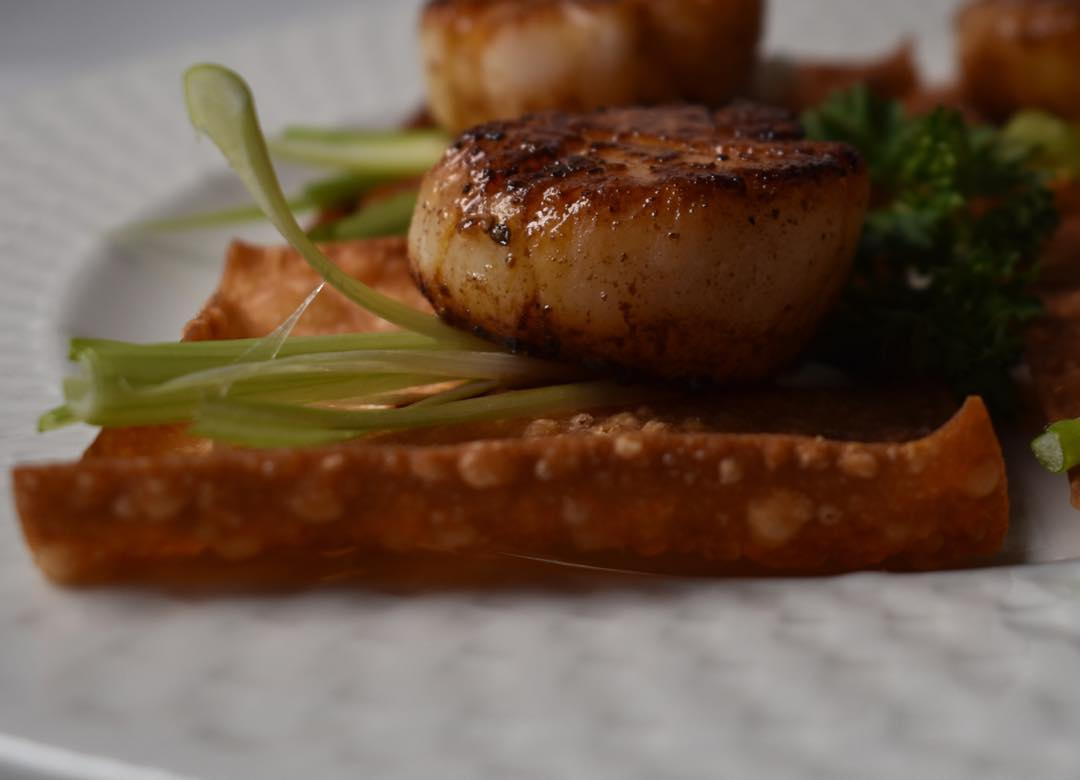 Pan seared scallops from Ate.O.Ate Catering