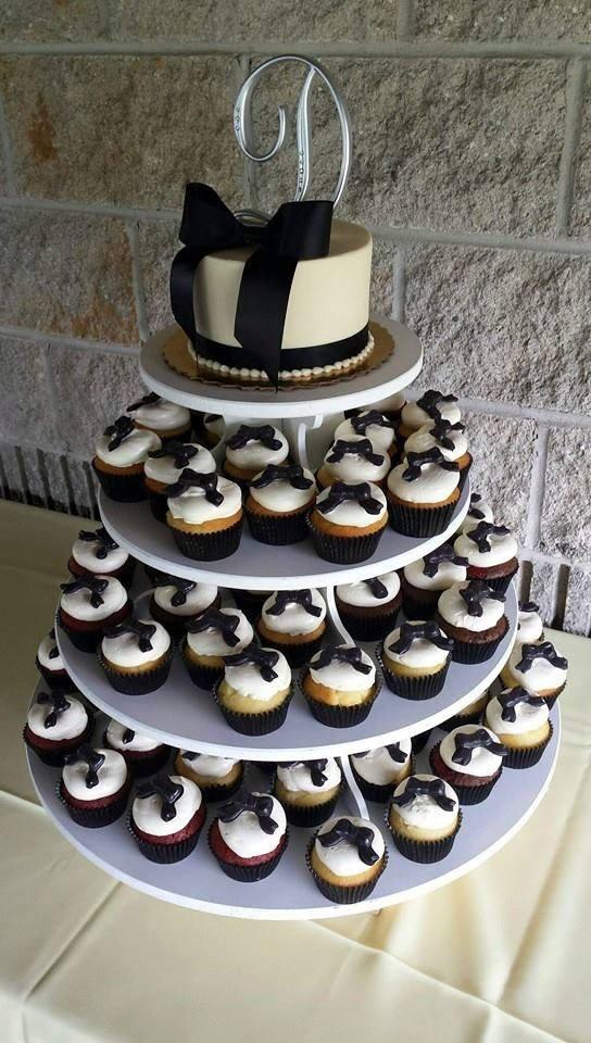 Black Tie Wedding Cake