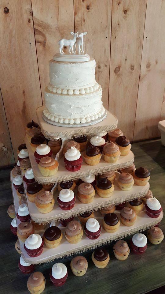 Square Cupcake Stand Wedding Cake