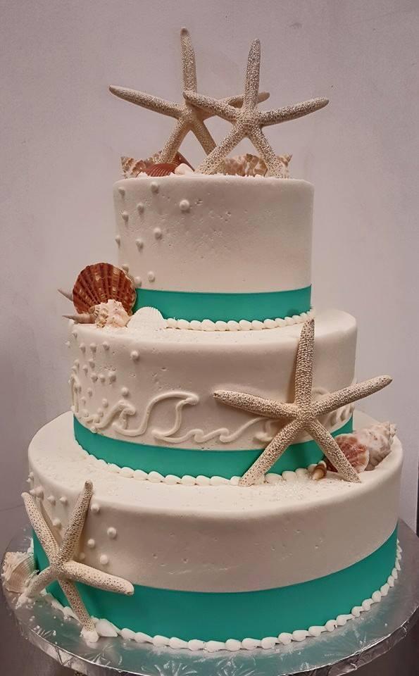 Star Fish Wedding Cake