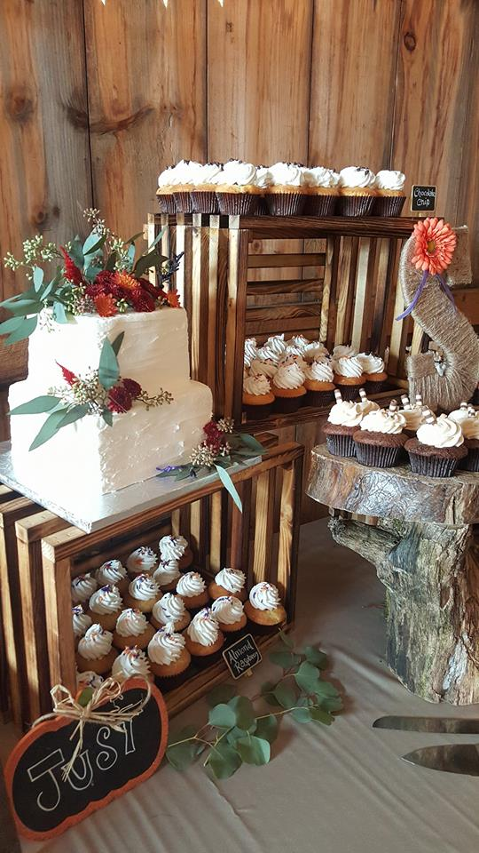 Rustic Crate Wedding Display