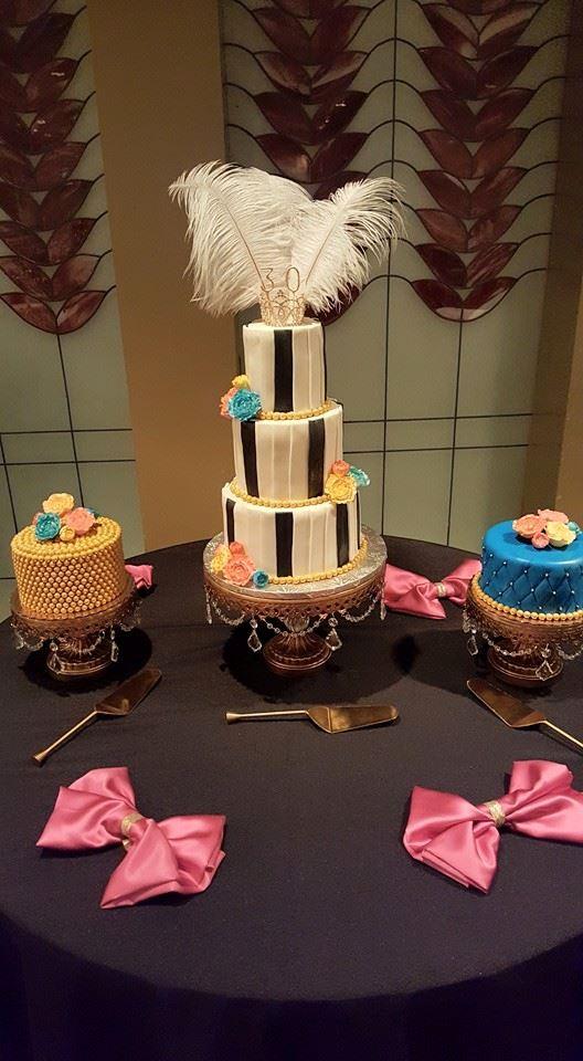 50's Flapper Wedding Cake