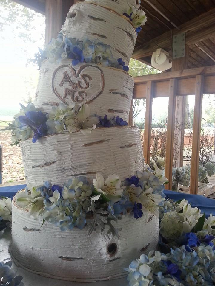 Topsy Turvy Tree Wedding Cake