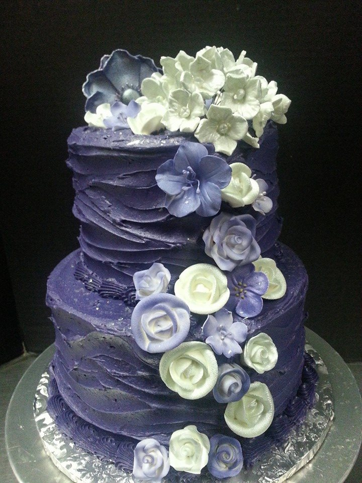 Purple rustic Wedding Cake