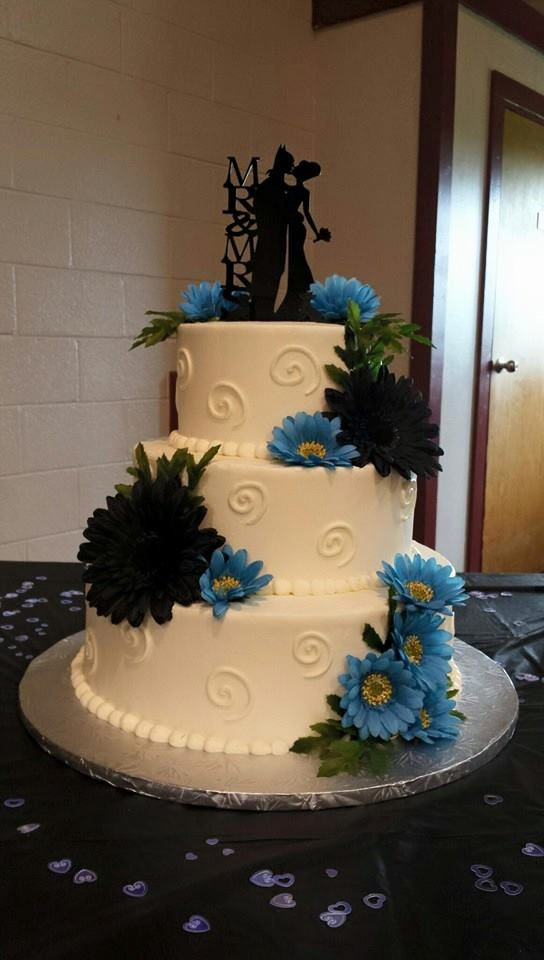3 tier Blue Wedding Cake