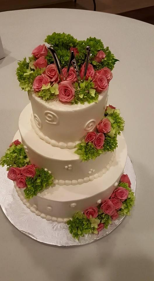 Hot Pink & Lime Wedding Cake