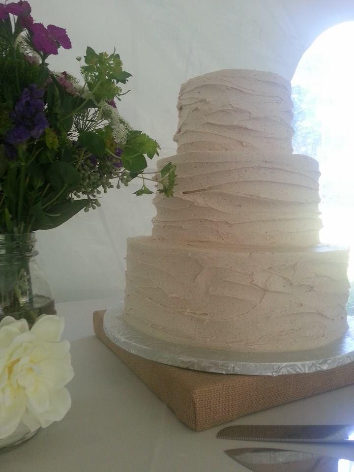 Rustic Iced Wedding Cake