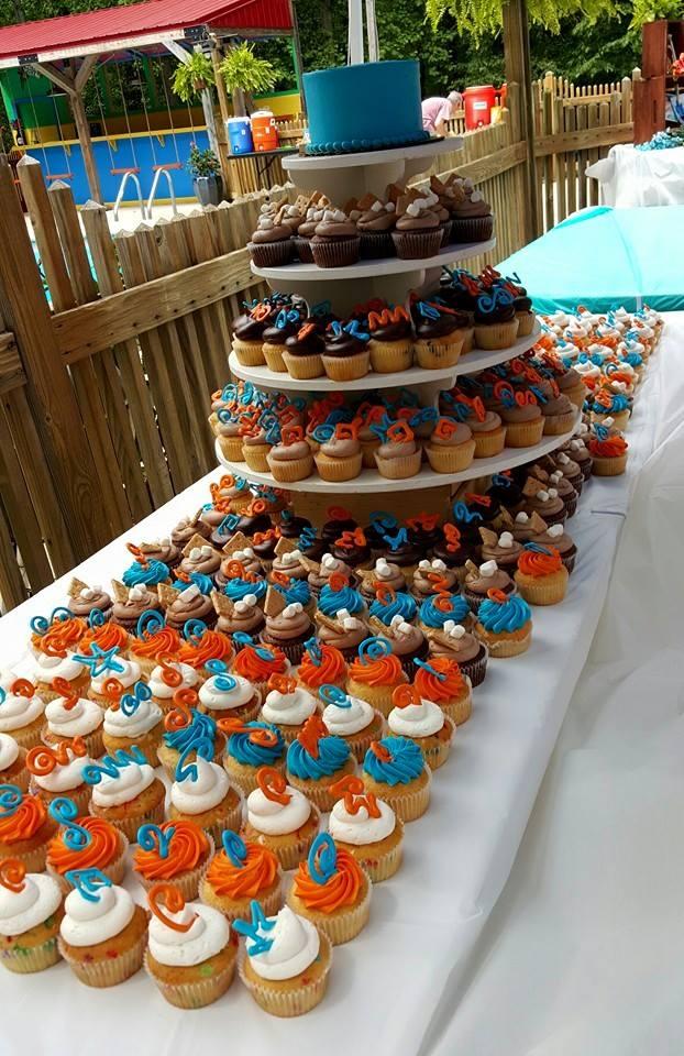 Pool Party Wedding Cake