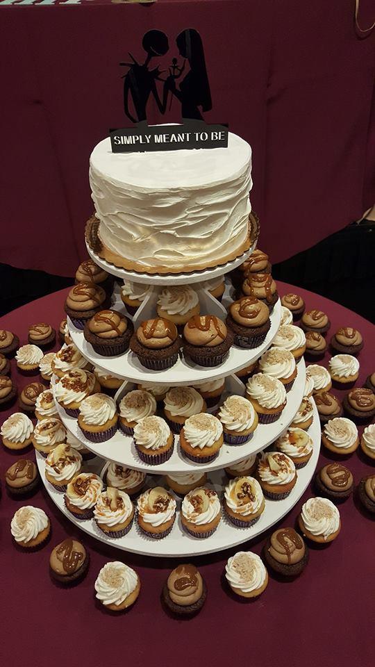 Jack & Sally Wedding Cake & Cupcakes