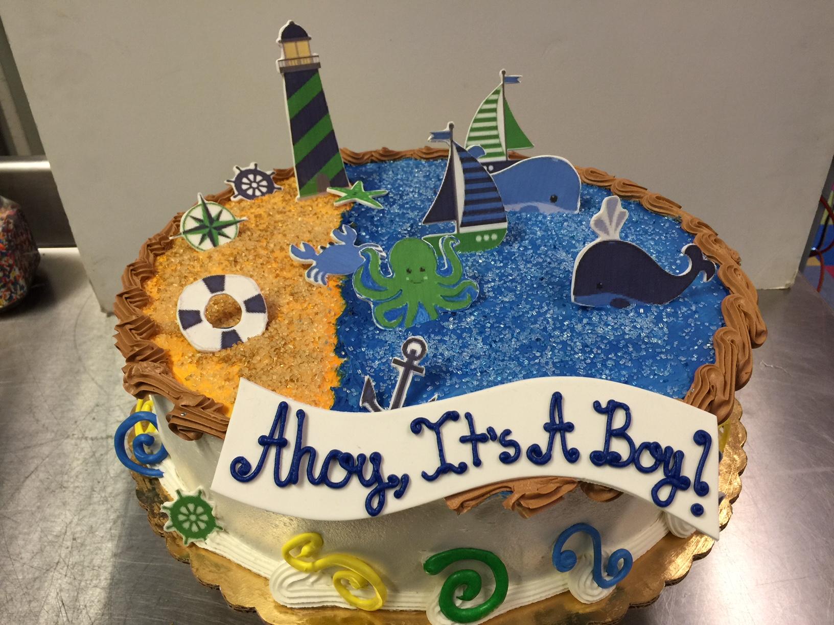 Ahoy! Baby Shower Cake 3