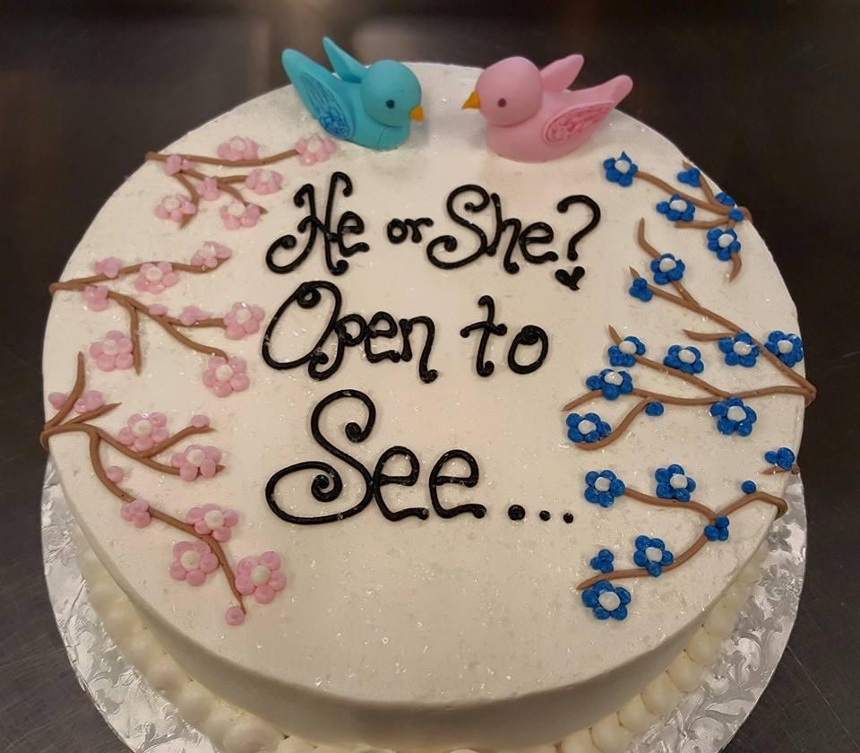 Birds Gender Reveal Cake