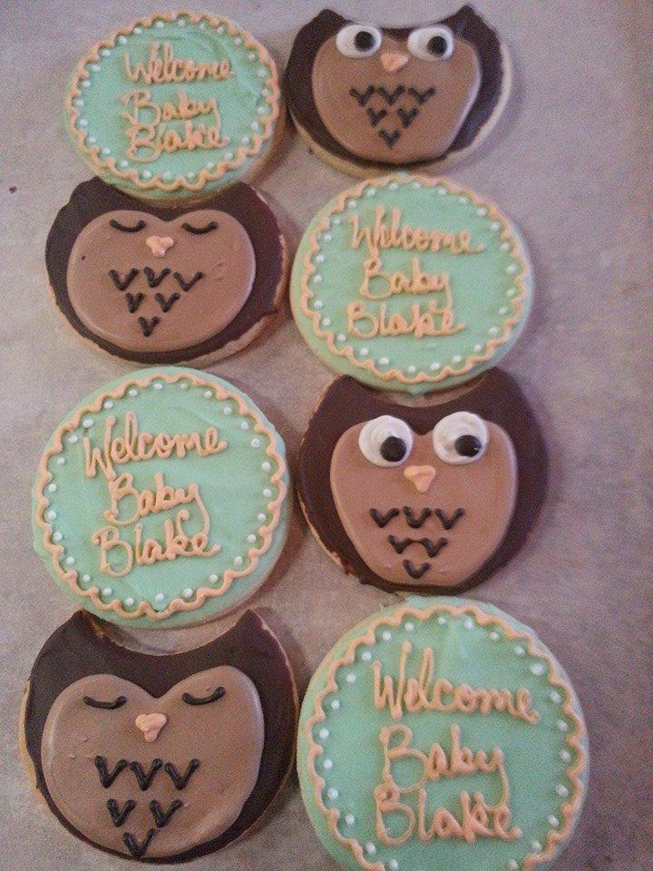 Owl Baby Shower Cookies