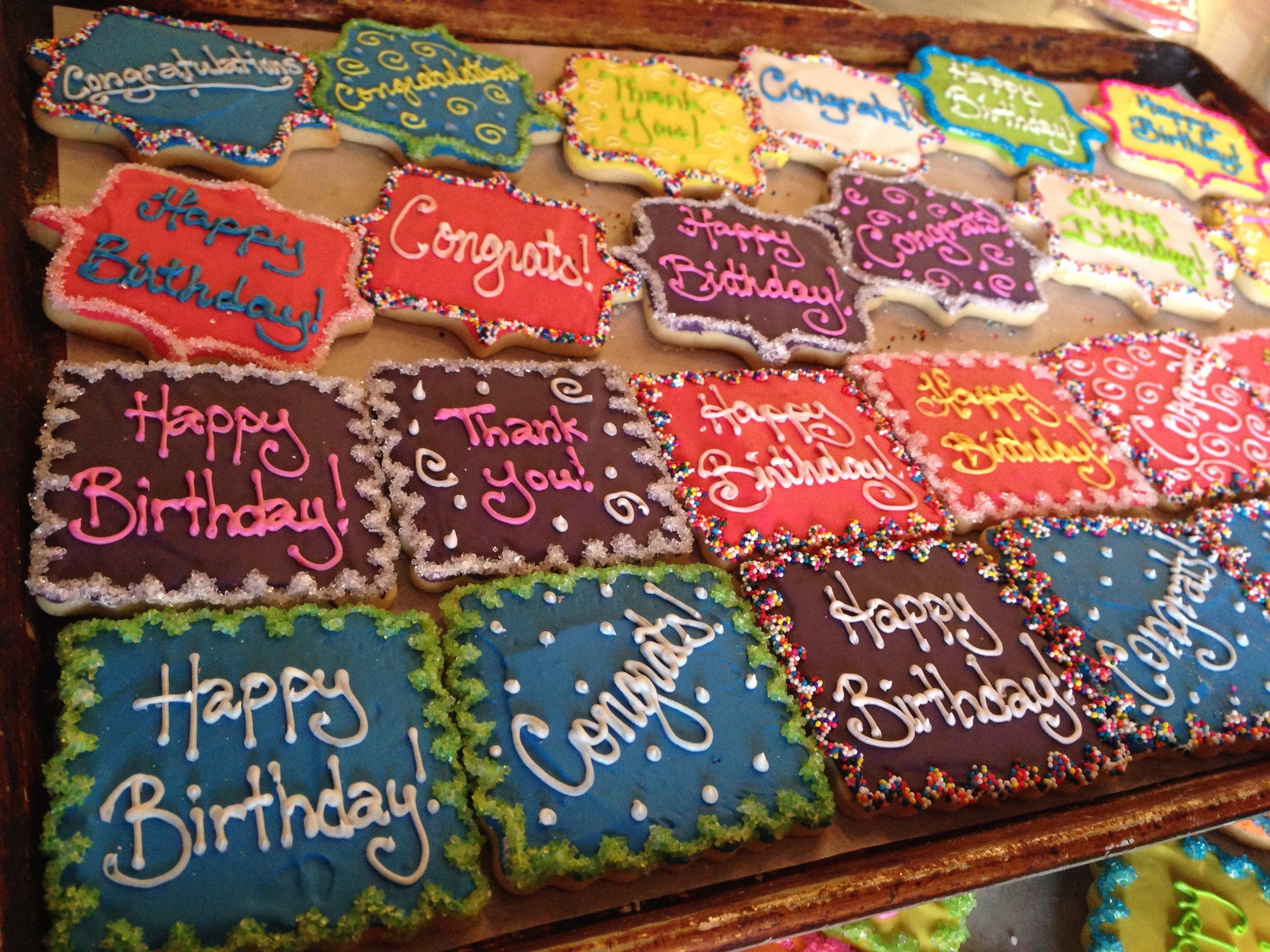 Custom Text Cookies
