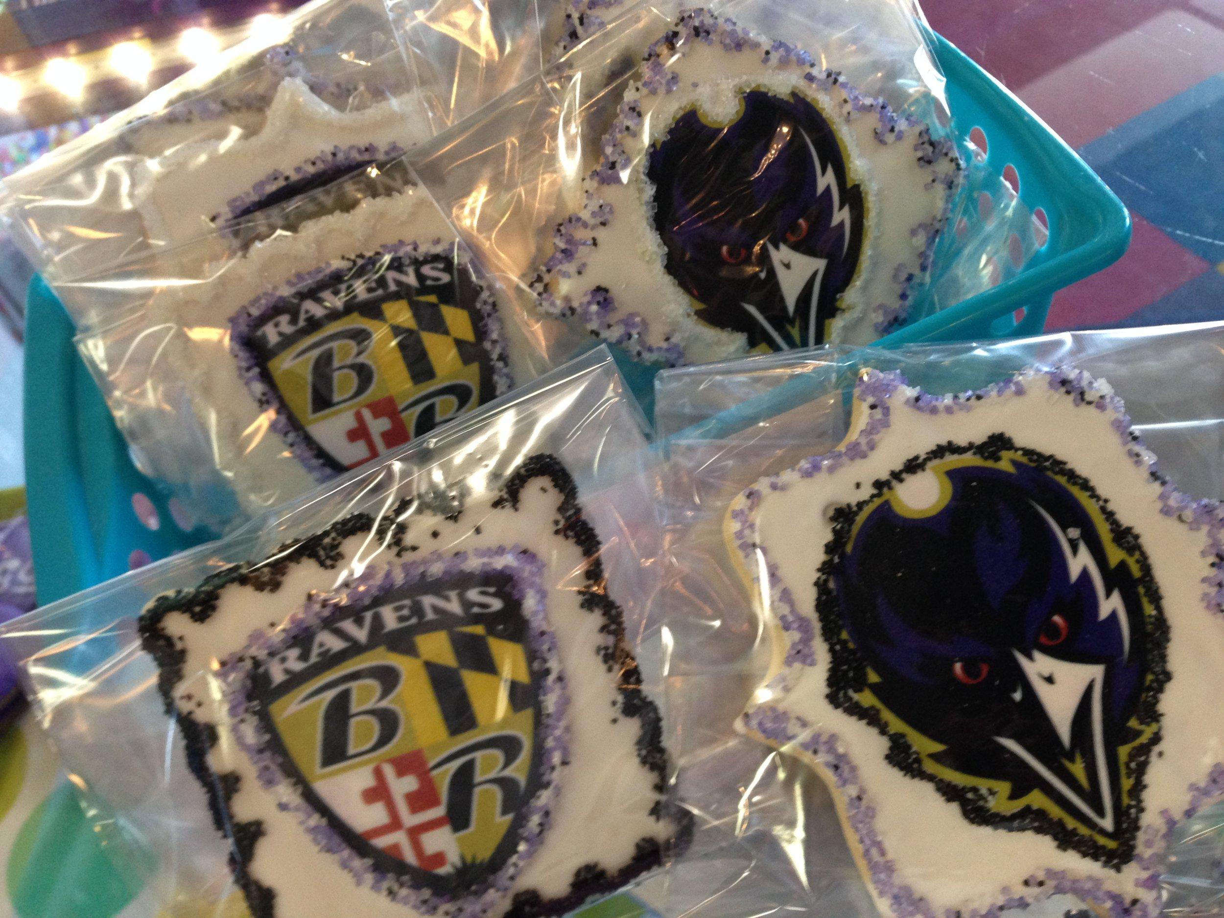Ravens Sugar Cookies