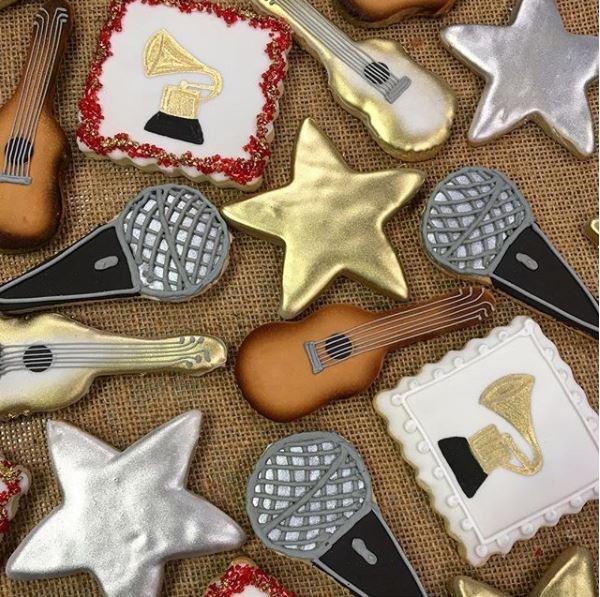 Music Stars Guitars Grammy Cookies