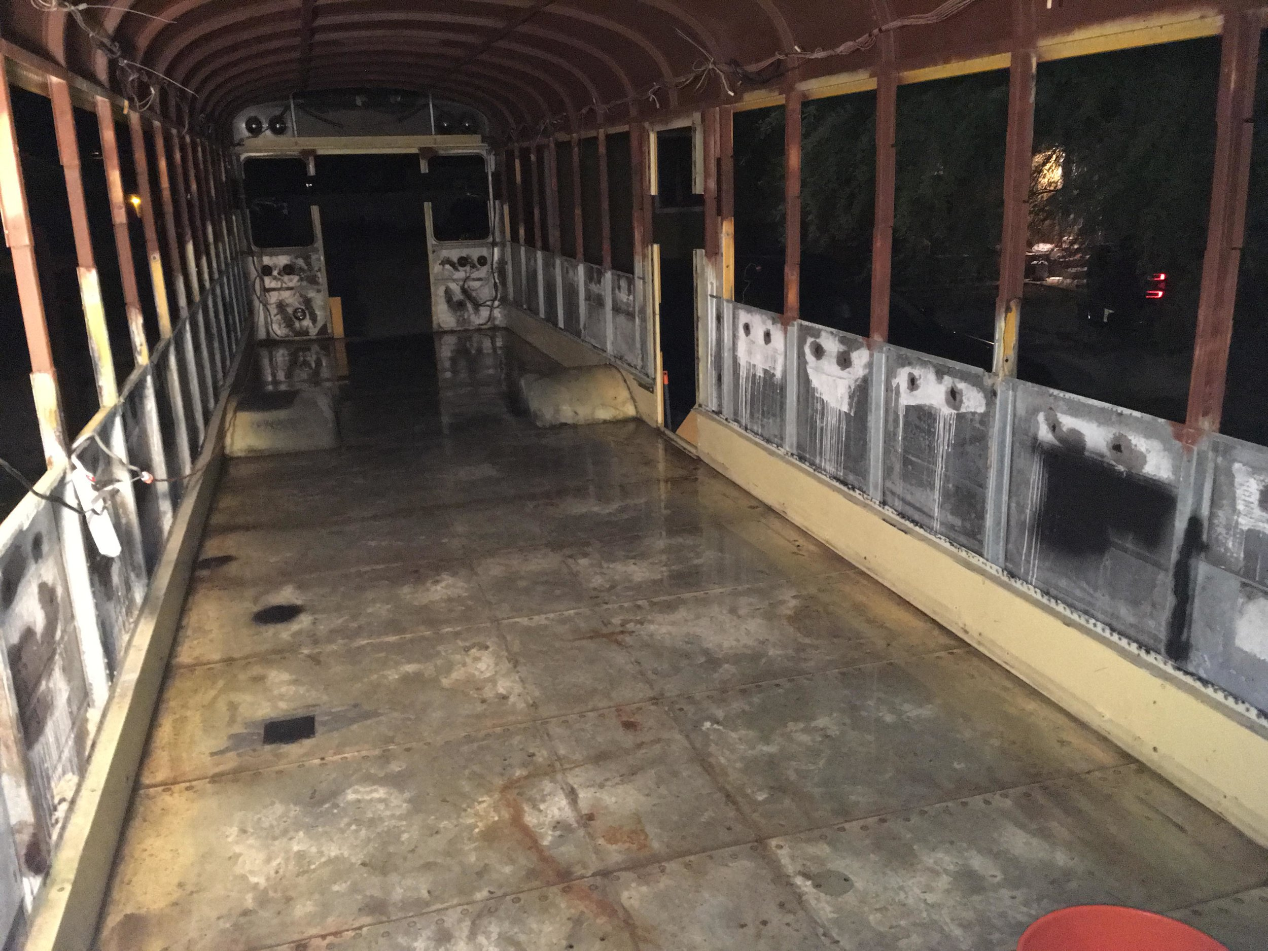 Your bus is a blank canvas. Be prepared to apply layer after layer of paint, wood, and hard work to it. -