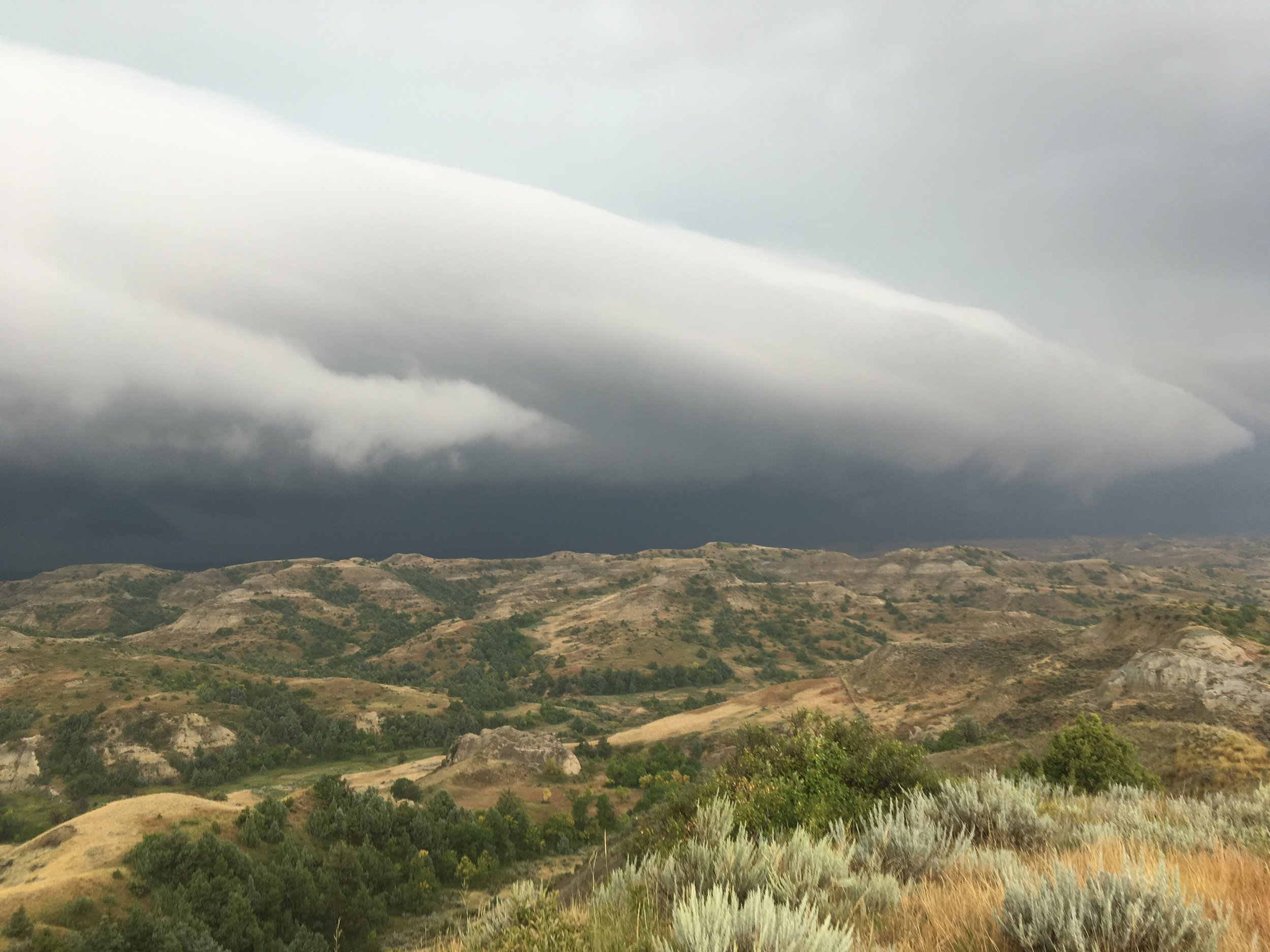 Storms rolling in on Day 5. Talk about terrifying.